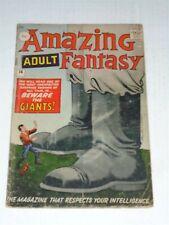 AMAZING ADULT FANTASY #14 G/VG (3.0) MARVEL COMICS JULY 1962 PROTOTYPE (SA)**
