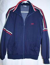 Vintage 80 00004000 's MacGregor Men's L Navy Usa Tennis Running Warm Up Jacket Euc