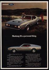 1971 FORD MUSTANG MACH 1 FASTBACK 351 CJ V8 Sports Car VINTAGE ADVERTISMENT