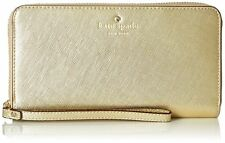 OEM Kate Spade Gold Zip Around Wallet Bag Clutch Wristlet for iPhone & Galaxy