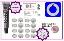 20 Fabric Cover Button 23mm Earrings DIY KIT Stud Stainless Steel Starter Kit