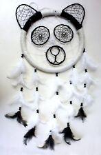 "Panda 10"" Dream Catcher: Nepal animal black white large dreamcatcher handmade"