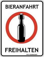 Fun-Schild - Bieranfahrt · Blechschild