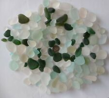 500g Jewellery Quality White & Green Seaham Sea Glass Charm Pendant Job Lot