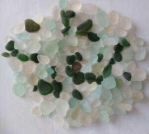 500g Jewellery Quality White & Green Seaham Sea Glass Charm Pendant Job Lot