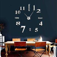 Giant Wall Clock Nine Three Six Twelve Letters Huge Design Home Decoration DIY