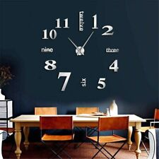 Giant Wall Clock Nine Three Six Twelve Letters Huge Design Home Decoration DIY