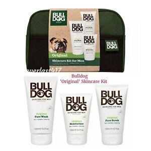 Men's Bulldog Original Skincare Wash Bag Ideal Father's Day/Birthday Gift Set