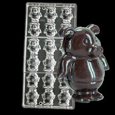 Pig 3 D Clear Polycarbonate Hard Inject Plastic Handmade Chocolate Candy  Mold