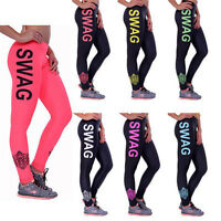Women's Sports Gym Yoga Workout Mesh Leggings Fitness Pants Running High Waist