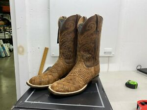 Lucchese Russell COGNAC GIANT GATOR STONEWASH Boots - Men's 9D