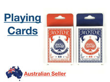 88 Motor Brand Plastic Coated Playing Cards LOT Deck Sealed New Blue Red Lucky