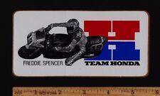 1983 TEAM HONDA FREDDIE SPENCER STICKER Decal Vintage Superbike VF750F VF750