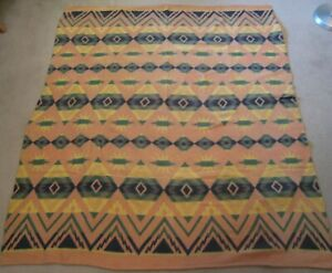 Vintage 1950's Cotton Indian Camp Blanket