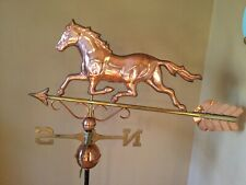 Good Directions Copper Trotting Horse w/Scrolls Weathervane -w/Roof Mount 967P