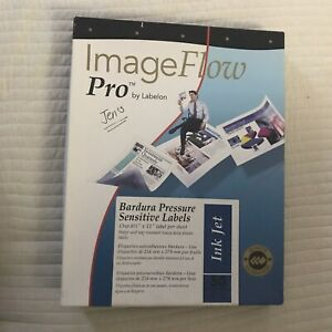 imageflow pro labelon barbura pressure sensitive labels 8.5x11 61 Sheets Ink Jet