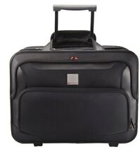 MONOLITH DELUX NYLON WHEELED LAPTOP TROLLY CASE WITH LOCKABLE ZIP FOR UPTO15.4""