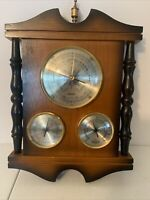 VINTAGE TRADITION JAPAN WEATHER STATION BAROMETER TEMPERATURE & HUMIDITY