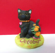Miniature Calico Kittens October Tourmaline-Calendulas Halloween Cat Figurine
