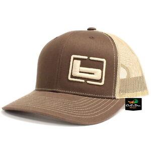 """NEW BANDED GEAR TRUCKER CAP HAT BROWN KHAKI W/ """"b"""" SIDE LOGO ADJUSTABLE"""