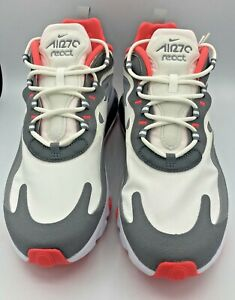 NEW Nike Air Max 270 React Running Shoes Gray CT1264-100 Size 9 Hard_8s_Magic