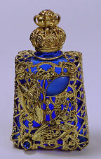 Luxury Vintage Czech Handmade Rhinestones Glass Perfume bottle