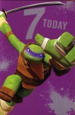 7th Birthday Card - Teenage Mutant Ninja Turtles - Age 7