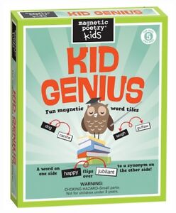 Magnetic Poetry ~ KID GENIUS ~ Fun Magnetic Word Tiles