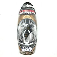 Star Wars Titanium MicroMachines Darth Maul's Sith Speeder Unopened!