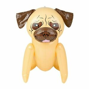 """24"""" Tan Pug Puppy Dog Inflatable - Inflate Blow Up Toy Party Decoration"""
