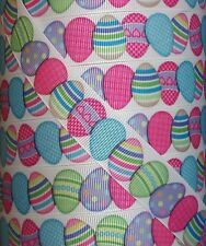 "5 yds 7.8"" DECORATED EASTER EGG GROSGRAIN RIBBON 4 HAIRBOW"