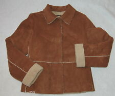 Mock Leather MUDD Teen LARGE Jr  Womens Brown JACKET COAT