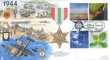 Jsmil 16 SECONDA GUERRA MONDIALE 1944 ITALIA STAR MEDAGLIA RAF 2000 MILLENNIUM FDC battaglia di Berlino
