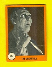 1961 Nu-Card Horror Monsters #110 & 89 Orange Cards