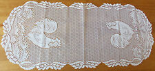 HERITAGE LACE WHITE ROOSTER FINE LACE TABLE RUNNER 14X34 ITEM 2973