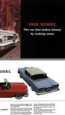 Edsel 1959 - 1959 Edsel - The Car that Makes History by Making Sense
