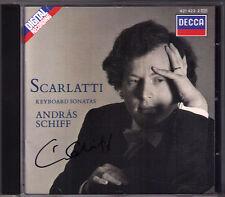 Andras nave firmato Scarlatti 15 Piano Sonata Decca CD 1989 pianoforte SONATE