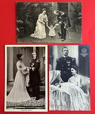 3 x AK ADEL NIEDERLANDE 1910 Prinzessin Juliana mit König und Königin  ( 5394