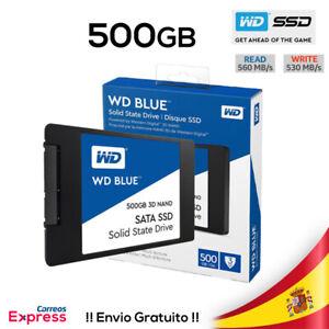 "Western Digital Blue 500GB SSD 2.5"", NAND, SATA, 3D, WD, Disco Estado Solido"