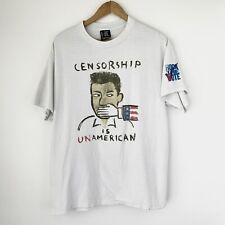 1990 Censorship Is UnAmerican MTV Rock The Vote Vintage Promo Tee Shirt 90s