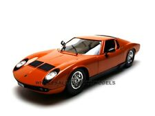 1968 LAMBORGHINI MIURA ORANGE 1/18 DIECAST MODEL CAR BY BBURAGO 12072