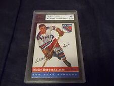 1954-55 Topps #22 Wally Hergesheimer Rangers - KSA 6 ENM