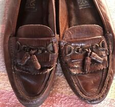Vintage Brown Leather Loafers Size 8 Ladies