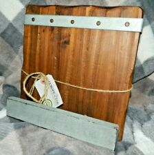 "NEW Europe2You BOOKSTAND Cookbook HOLDER Rustic Reclaimed WOOD STEEL 11""x11"""