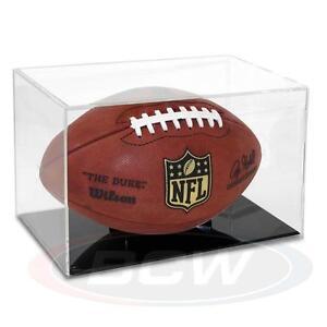 BallQube Grandstand Football Display Case - Black Base
