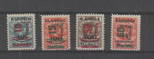 Lithuanian Occupation of Memel 1923 ( Nov ) surcharges , SG 83 - 86 MH