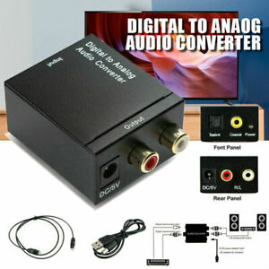 UK Digital Optical Coaxial Toslink To Analog RCA L/R Audio Adapter Converter USB