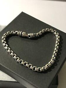"""David Yurman Large Box Chain Bracelet 5mm 7""""Long"""