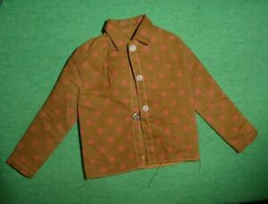 MOD Era Ken Doll Clothes Sears 1514 Casual All-Stars Brown Dotted Shirt