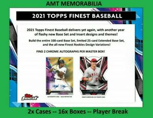Brady Singer Kansas City Royals 2021 Topps Finest 2X CASE 16X BOX BREAK #4